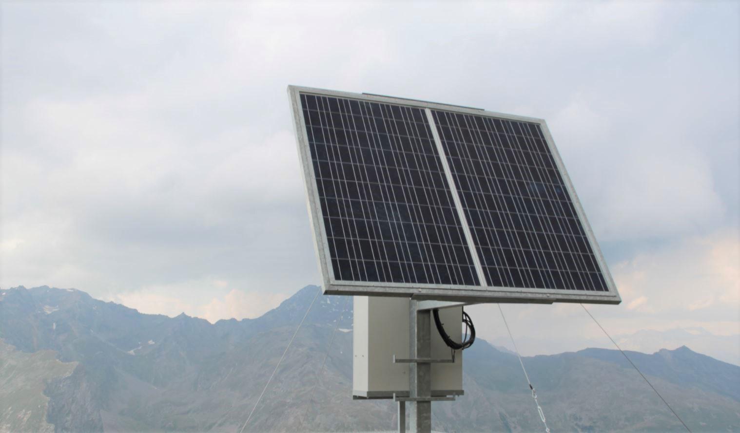 Solaranlagen ermöglichen einen Betrieb einer Webcam oder Baucam auch dort wo kein Stromanschluss verfügbar ist